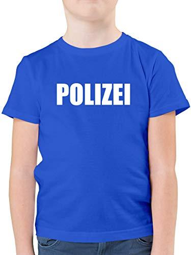 Karneval & Fasching Kinder - Polizei Karneval Kostüm - 152 (12/13 Jahre) - Royalblau - Fasching Polizei Kinder - F130K - Kinder Tshirts und T-Shirt für Jungen