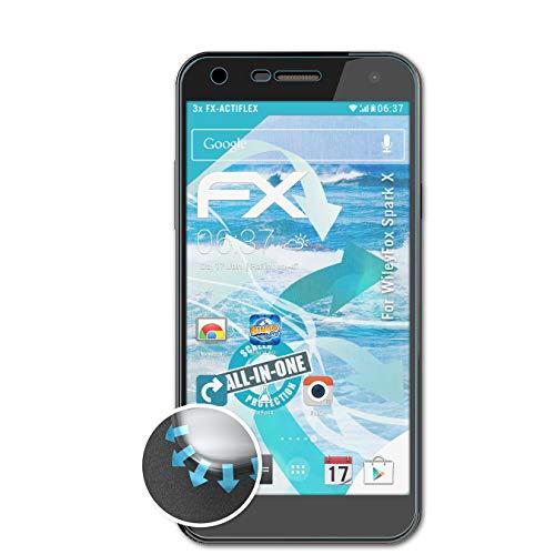 atFolix Schutzfolie kompatibel mit WileyFox Spark X Folie, ultraklare & Flexible FX Bildschirmschutzfolie (3X)