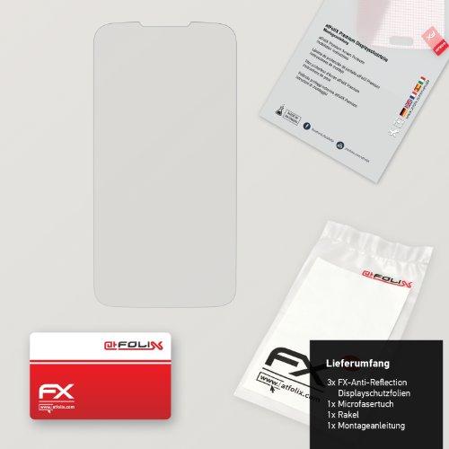 atFoliX Displayschutzfolie für Huawei Ascend Y200 (3 Stück) - FX-Antireflex: Displayschutz Folie antireflektierend! Höchste Qualität - Made in Germany! - 2