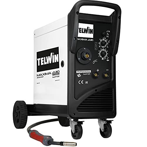 Telwin 816088 maxima 230 synergic - saldatrice a filo con tecnologia inverter 230 v, 50-60 hz, 1 ph