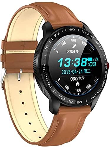 IP68 impermeable reloj inteligente 1.3 pulgadas pantalla táctil completa rastreador de actividad con monitor de frecuencia cardíaca, monitor de sueño, podómetro, rastreador de fitness-A
