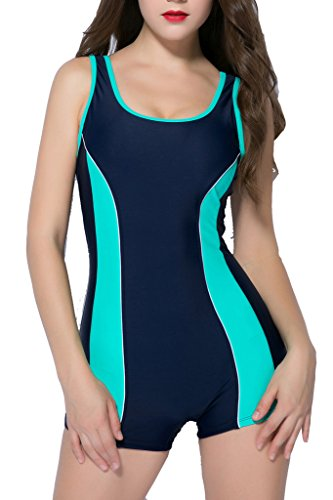 BeautyIn swimsuits for women bathing suits one piece swimsuit ladies swimwear , Mint Green , Size 12 / Tag 46