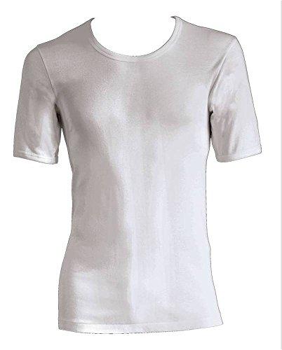 Lot de 3 Scholler Nestos – 1/2 – Maillot homme finement côtelés Blanc - Blanc - X-Large