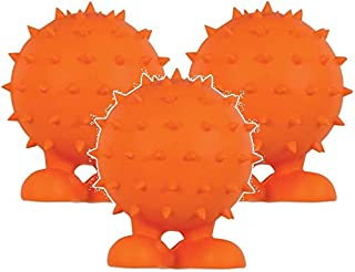 (3 Pack) JW Spiky Cuz Assistant Toy, Medium, Multicolor - Colors May Vary