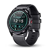 GOKOO Smart Watch for Men Heart Rate Monitor Sleep Tracker Smart Watch Full Touch Screen Activity Tracker Breathing Train IP68 Waterproof Sport Smart Watch Step Calorie Camera Music Control(Gray)
