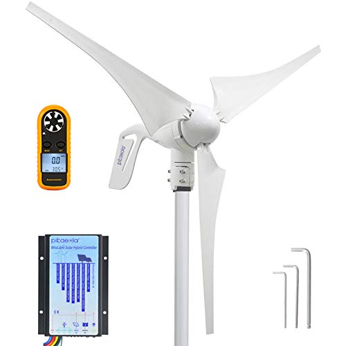 Pikasola Wind Turbine Generator 12V 400W with a 30A Hybrid Charge Controller. As Solar and Wind...