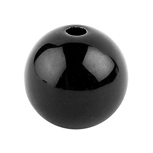 Perlen zum Auffädeln | schwarz | Schwarze Perlen mit Loch | Ideal für Armbänder, Ketten, DIY-Schmuck, Basteln | Verschiedene Größen zur Auswahl (Ø 6 mm, 150 Stück)