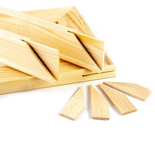 generisch Keilrahmen Bausatz 2 cm Holzleisten Set selbst zusammenbauen ohne Leinwand (40x50)