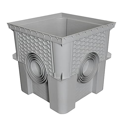 Jardibric - Regard/rehausse collecteur des eaux pluviales - 40 x 40 cm (livré sans Couvercle, Dispo sur Le site : Article B086C4CXRB)