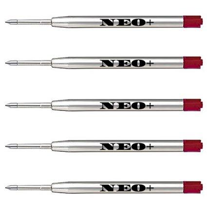 Ricariche penna a sfera di qualità, economiche ma di lunga durata, punto medio. Compatibile con la penna a sfera Parker. Ricarica G2 Ricarica di stile (5 x INCHIOSTRO ROSSO)