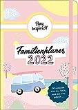 Mini Familienplaner 2022 für die Handtasche für bis zu 5 Personen in DIN B6. Familienkalender 2022 mit stabilem Hardcover. Viel Platz für Termine und ... Stundenplan, Feiertage, Schulferien uvm.