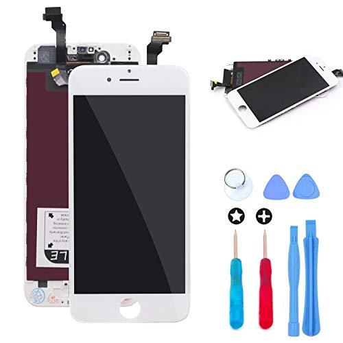 recyco pour iPhone 6 Écran LCD Écran Tactile Et numérique Remplacement pour Montage Complet avec Kit d'Outils De Réparation (4.7 Pouces) Blanc et La Protection d'écran
