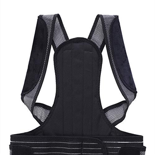 Haltungskorrektur für Männer und Frauen, verstellbare und atmungsaktive Rückenstütze Verbessert die Haltung und bietet Rückenstütze, schwarz, 4 Größen(Size:M)