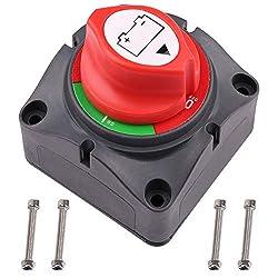 small Battery Isolator Switch, 12V 24V 48V Main Battery Isolator Switch for Boats RV ATV UTV…