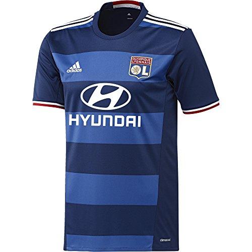 adidas Herren Olympique Lyon Replica Trikot, Dark Blue/White/Blue, S