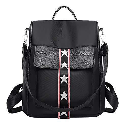 KaloryWee Koreanische Version von Oxford Tuch Leinwand wilde Anti-Diebstahl-Normallack College Wind lässig Rucksack Tasche Umhängetasche Reisetasche