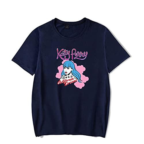 CAFINI Camiseta con Estampado De Cantante De Katy Perry, Suter Casual De Manga Corta Lindo, Tops De Moda para Hombres Y Mujeres(2XS-4XL)