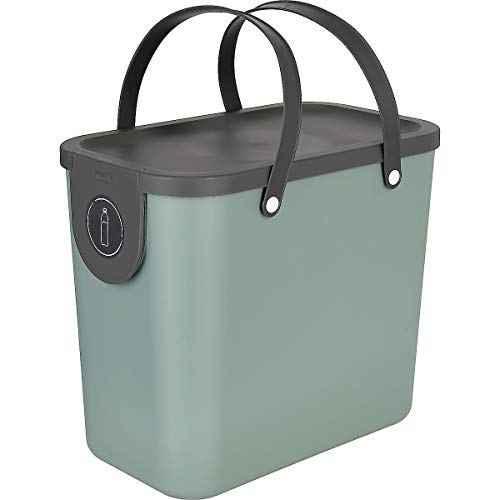 Clas Ohlson  Indoor Recycling Bin With Handles - Made Of Recycled PP Plastic, Compost Bin, Food Caddy (green, 25l)