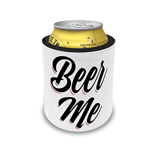 Slap Can Coolers Vintage Lettering Beer Me Insulator Sleeve Covers Neonblond