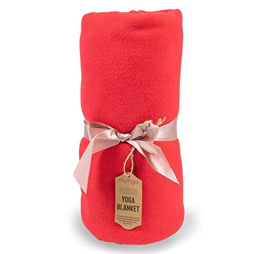 Myga RY1325 - Fleece Blanket - Multifunctional Yoga Studio Prop Cushion and Blanket for...
