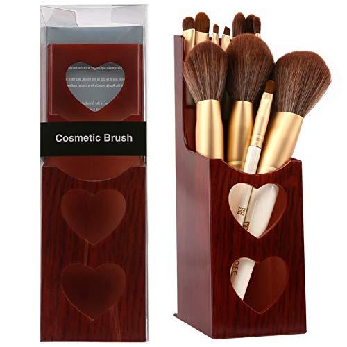 Porte-pinceau de maquillage, organisateur de pinceau de maquillage, couleur de séquoia personnalisée boîte de rangement de bureau de conception de coeur pour le peigne brosse stylo crayon