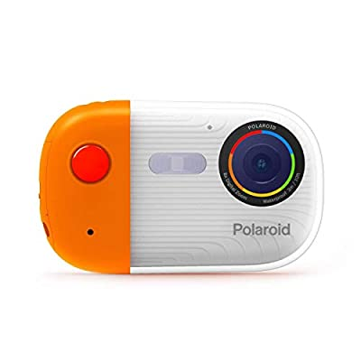 Polaroid Underwater Camera 18mp 4K UHD, Polaroid Waterproof Camera for Snorkeling and Diving with LCD Display, USB Rechargeable Digital Polaroid Camera for Videos and Photos (Orange) by Sakar International, Inc.