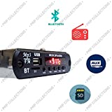 PRP Collections Bluetooth Mini Car Stereo, MP3 Player with FM,AUX & USB