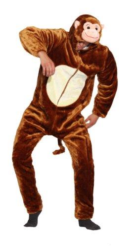 Foxxeo Premium Plsch Affen Kostm fr Erwachsene Damen und Herren Tierkostm Overall Jumpsuit Grße XXL