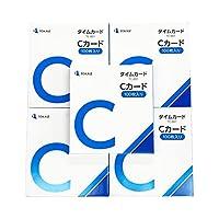 TOKAIZ Cカード TC-001 100枚入り×5箱セット タイムカード タイムレコーダー TR-001 TR-001S シリーズ専用