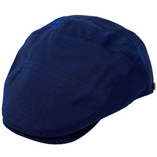 Epoch hats Men's Slim Summer Light Rayon Blend Ivy Driver Cabby Flat Cap Hat Plaid Blue S/M