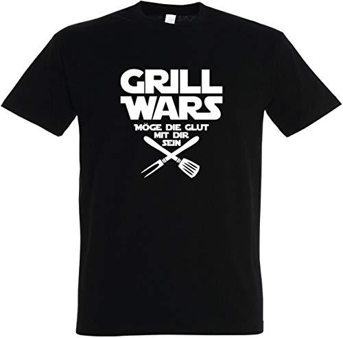 Herren T-Shirt Grill Wars Möge die Glut mit dir Sein S bis 5XL (S, Schwarz)