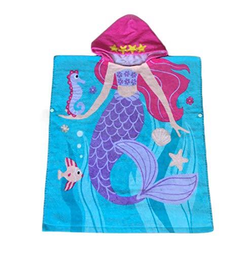 Repuhand Asciugamano con Cappuccio in Cotone per Bambini, Bagno, Nuoto, Vacanza in Spiaggia Soffice,100% Cotone Asciugamano