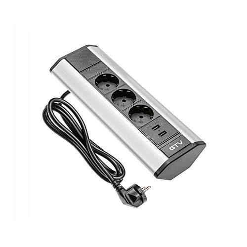 Tischsteckdose 3fach + USB Ecksteckdose Küchensteckdose Küche