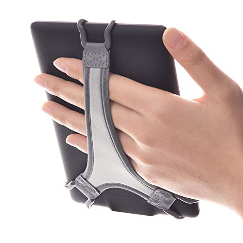 TFY Security Hand Strap Holder Finger Grip Compatible with Kindle E-Readers - Kindle e-Reader 6Inch   Kindle Paperwhite   Voyage   Oasis   Nook GlowLight Plus   Sony PRS-300   PRS-350 (Black)