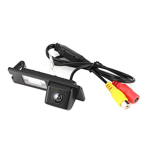 Qiilu Telecamera per retrovisore per auto, telecamera per retrovisione CCD HD IP68 Telecamera di parcheggio da 170 gradi per luce targa adatta per Fluence Duster Megane