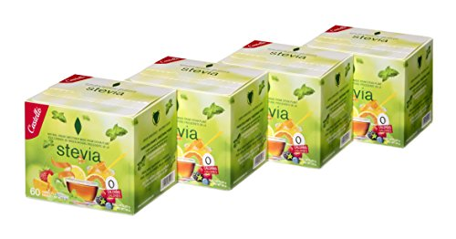 Castelló Since 1907 Edulcorante Stevia + Eritritol 1:8 - Paquete de 4 x 60...