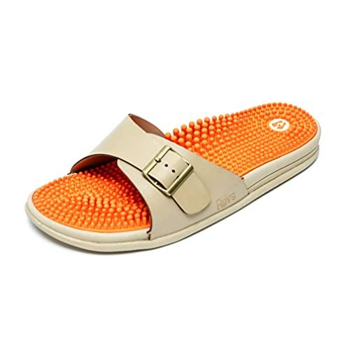 Revs - Damen Sandalen mit Massage-Effekt und Polsterung - stoßdämpfende und komfortable Sohle - Stimulierung der Fußreflexzonen und Schmerzlinderung - durchblutungsfördernd - Senkfußeinlage