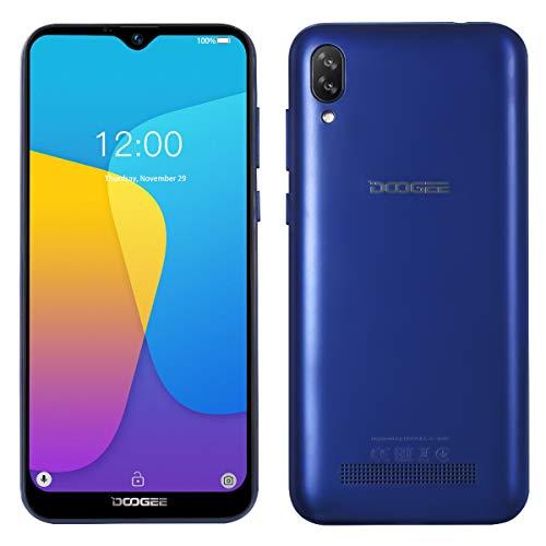 Smartphone Offerta del Giorno DOOGEE X90, Waterdrop 6.1 '' a Tutto Schermo, Android 8.1 DUAL SIM 3G Cellulare in Offerta, Quad-core 16 GB ROM, 5MP+8MP Fotocamera, GPS, Sblocco Facciale 3400mAh Blu