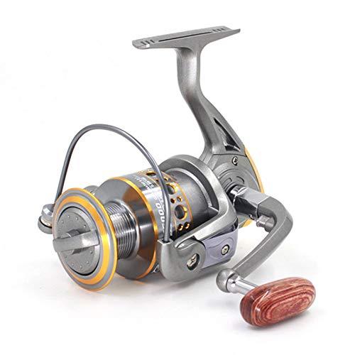 YAGE Carretel giratório de metal com proporção de engrenagem 5.2:1, molinete de pesca com 13 rolamentos de esferas para pesca em água salgada ou doce
