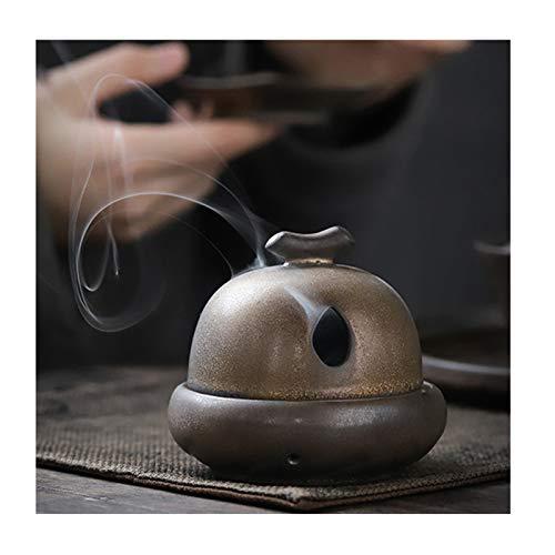 LLSL Imitación Cobre Antiguo cerámica Incienso Incienso, Gilt Hierro óxido glaseado Incienso Quemador, hogar/Ceremonia de té/de Interior/disfrutando del Quemador de Incienso