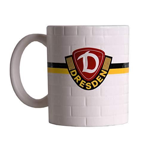 SG Dynamo Dresden Kaffeetasse Mauer Streifen schwarz-gelb