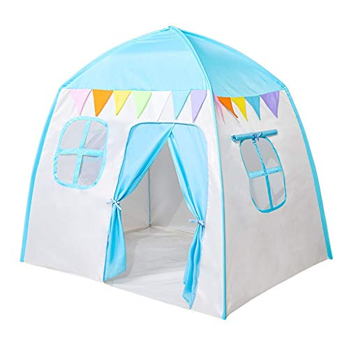 ANQIY Arts Play Tent, House Modeling Mute Cotton Canvas Portable Birthday Present Girl Boy Children (Color : Blue, Size : #1)
