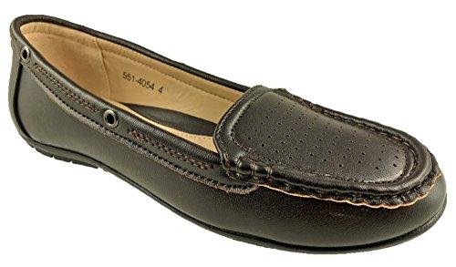 Bata - Scarpe da passeggio da donna, senza lacci, piatte e comode, taglia 30-8, colore: Marrone, Marrone (Marrone), 39 EU
