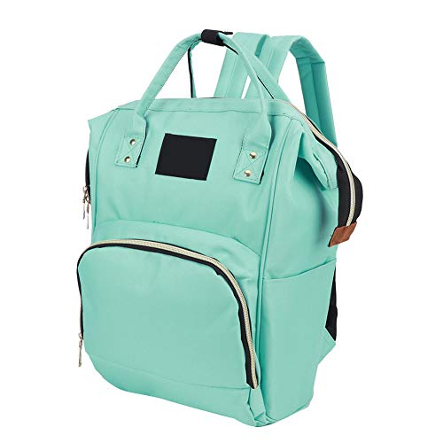 Durable Nappy Bag, Large Capacity Mommy Nursing Bag, with Front Pocket Baby Diaper Backpack, Stylish Design Nappy Bag, Travel for Outdoor Mommy(Green)