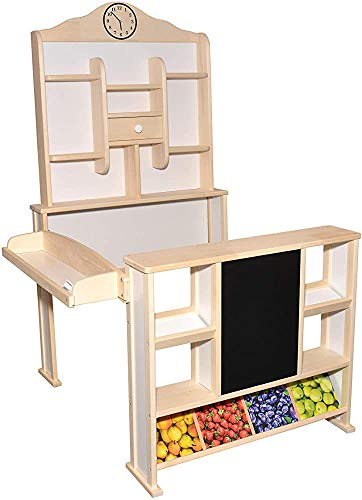 Tienda de comestibles para niños, hecha de materiales de madera, entretenidos niños, adecuados para niños mayores de tres años,Wood