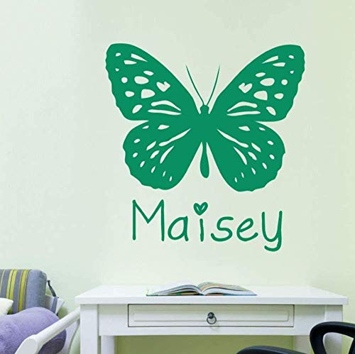 Wall Stickers Decal Pvc Plastic Butterfly Girl Room Diy Home Art Mural Wall Decals Decoration 58X58Cm