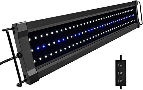 NICREW ClassicLED G2 Luz LED Acuario, Iluminación LED para Acuarios, Pantalla LED Acuario Lámpara de Planta para Pecera 60-80 cm, 18 W,...