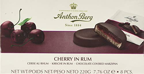 Anthon Berg Cherry in Rum Chocolate Covered Marzipan - 220 g