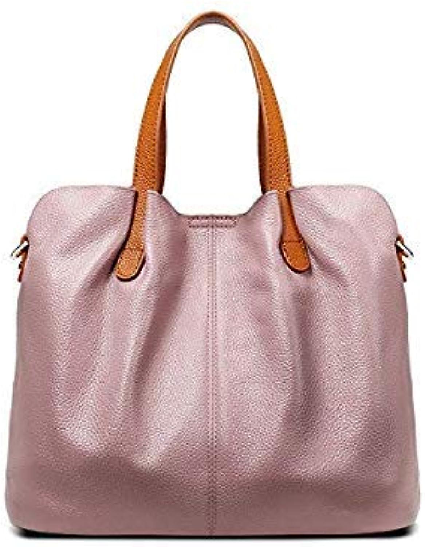 Bloomerang SENDEFN Women Handbag Famous Brand Genuine Leather Luxury Shoulder Bag Large Capacity Crossbody Bags Women Casual Tote Sac color Taro Purple 33x25x15cm