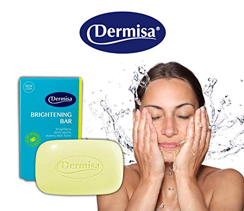 Dermisa Brightening Bar with 3 Natural Botanical Extracts | Helps to Brighten Dark Spots, Freckles, Age Spots and Cleanse Skin | Contains Kojic Acid, Licorice Extract, Arbutin | NO PARABENS, NO SULFATES, 100% VEGETABLE BASE | 3 OZ | Pack of 3